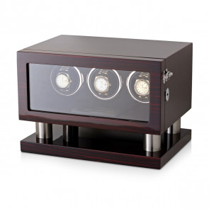 Triple Watch Winder for Automatic Watches (Ebony)