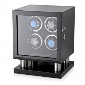 Leader Watch Winder Box for 4 Automatic Watches (Black Grey)