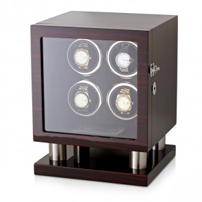 Leader Watch Winder Box for 4 Automatic Watches (Ebony)