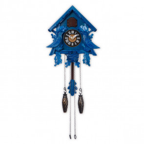 TIMEGEAR Small Cuckoo Clock with Night Mode (6057, Blue)