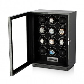 Boda D12 watch winder for 12 watches (Carbon)
