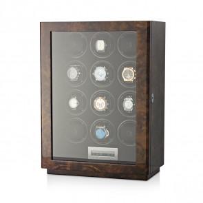 Boda D12 watch winder for 12 watches (Dark Burl)