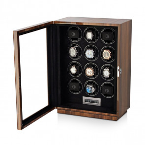 Boda D12 watch winder for 12 watches (Walnut)