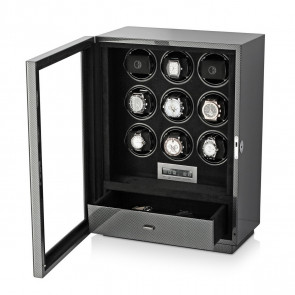 Boda D9 watch winder for 9 watches (Carbon)