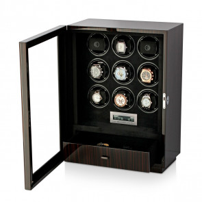 Boda D9 watch winder for 9 watches (Macassar)