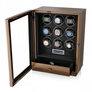 Boda D9 watch winder for 9 watches (Walnut)