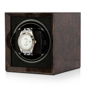 Boda E1 Compact single watch winder (Dark Burl)