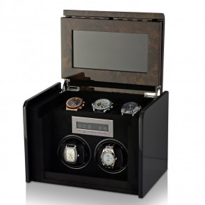 Boda F2+3 double watch winder box (Dark Burl)