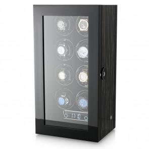 Premium 8 Watch Winder with Fingerprint Lock (Black Shadow)