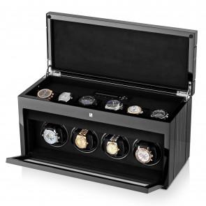 4+6 Gentleman Quad Premium watch winder (Black Shadow)