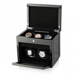 Gentleman Double Premium watch winder (Black Apricot)