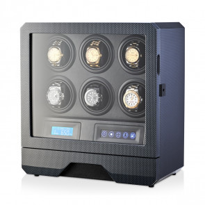 Watch Winder for 6 Watches (Carbon)