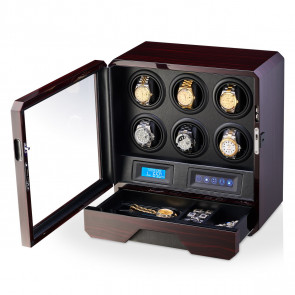 Watch Winder for 6 Watches (Ebony)