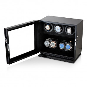 Leader Watch Winders Compact 7 Watch Winder (Black + Black)