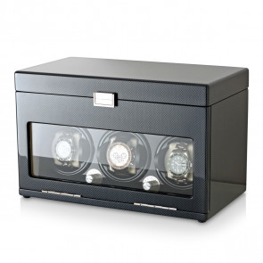3+12 Watch Winder (Carbon + Beige)