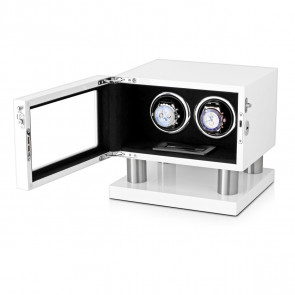 Leader Watch Winders Wooden Watch Winder for 2 Automatic Watches (White)