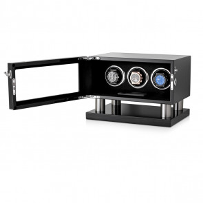 Leader Triple Watch Winder for Automatic Watches (Black Grey)