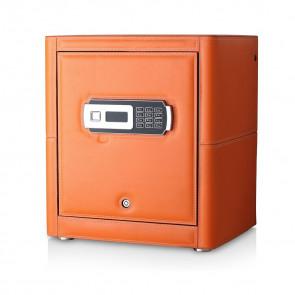 Watch Safe with Orange Genuine Leather Finish