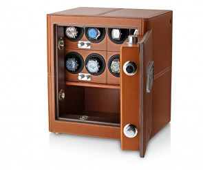 Watch Safe with Built-In Alarm System (Brown)