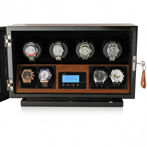 4 Watch Winder with Ultra-Quiet BLDC Motors (Walnut)