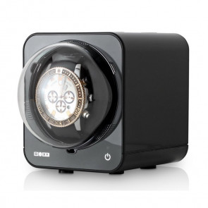 Fancy Brick Watch Winder with AC Adapter (Black)