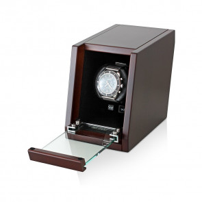 Single Wooden Watchwinder (Brown Walnut)