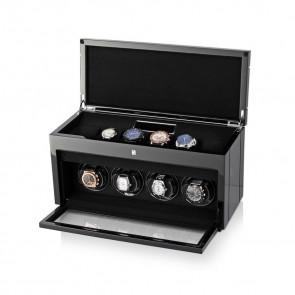 Gentleman Quad Premium watch winder (Black Apricot)