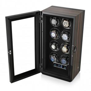 Premium 8 Watch Winder with Fingerprint Lock (Macassar)