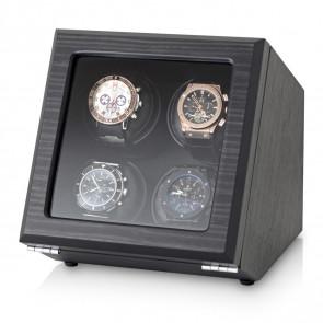 Quad Watch Winder (Black Veneer)