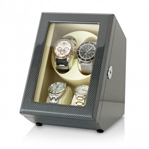 Leader Watch Winders 2+2 Watch Winder (Carbon + Beige)