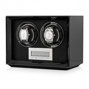 Petite 2 Double Watch Winder (Black)