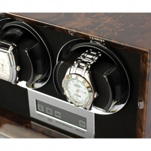 Petite 2 Double watch winder (Dark Burl)