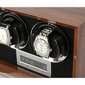 Petite 2 Double watch winder (Walnut)