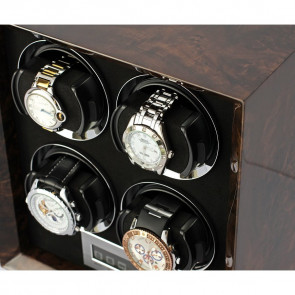 Petite 4 Quad watch winder (Dark Burl)