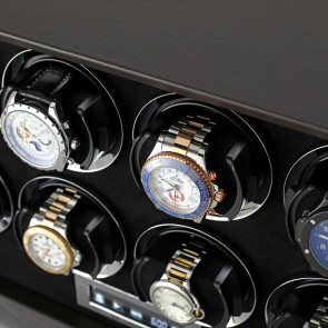 Petite 8 watch winder (Brown Leather)