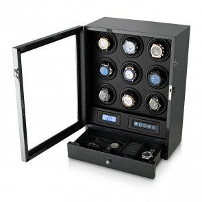 Watch Winder for 9 Watches (Carbon)