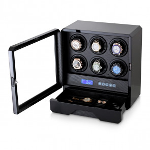 Watch Winder for 6 Watches (Black)