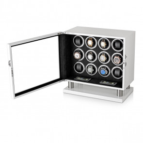 Watch Winder for 12 Watches (White)