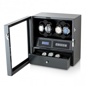 Watch Winder for 4 Watches (Carbon + Black)