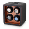 Quad Watch Winder (Black + Brown)