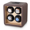 Leader Watch Winders Quad Watch Winder (Brown + Beige)