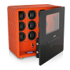 Watch Safe with 9 Winder Rotors and Jewelry Drawers (Orange)