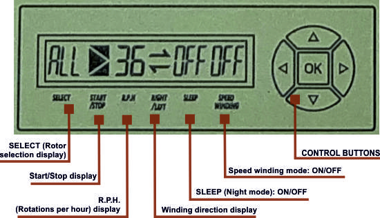 Paul Design watch winder control panel